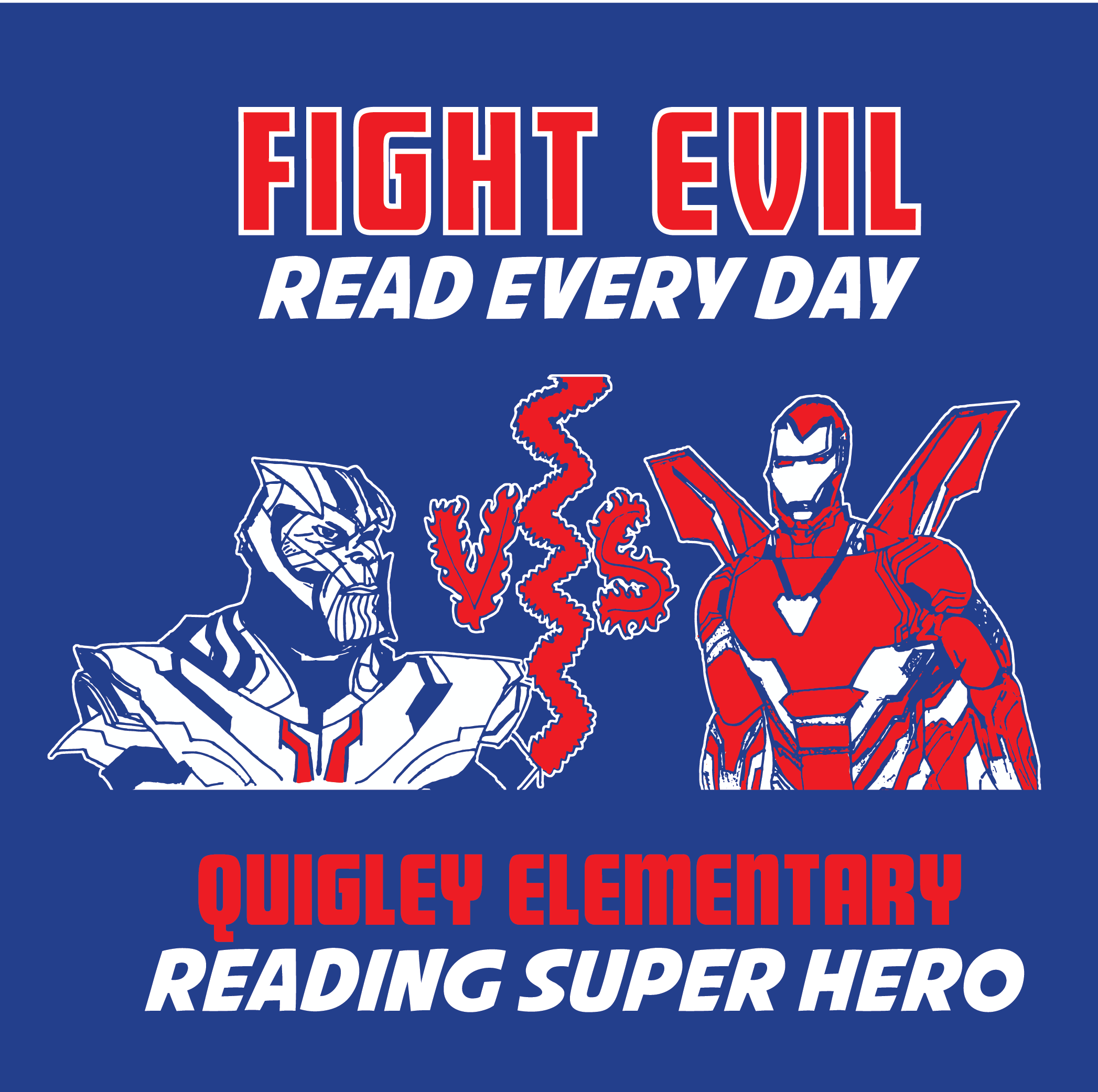 Fight Evil - Read Every Day QGE Reading Challenge